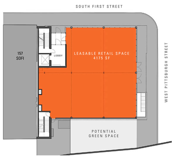 161 First Street Available Retail Space Floor Plan